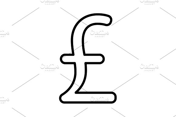 sterling sign. vector illustration