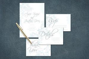 Simple Watercolor Wedding Invitation