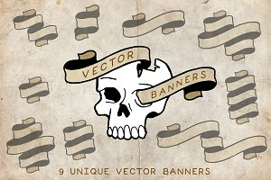 Handdrawn Vector Banners