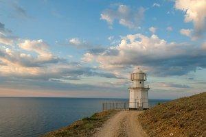 Lighthouse on sea