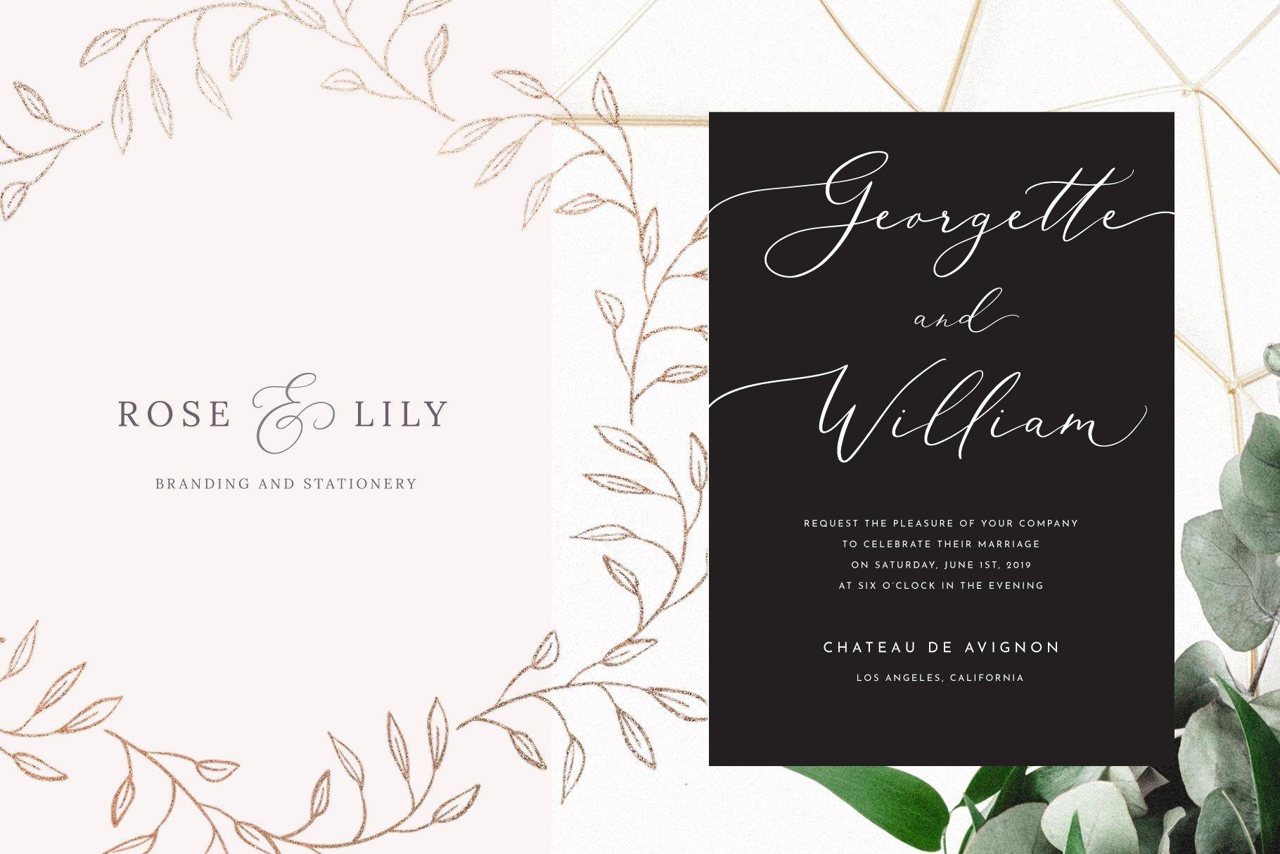 White Garden Calligraphy Font