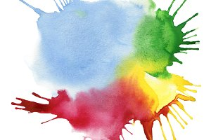 abstract color watercolor blot