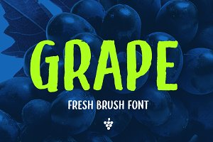 Grape - A fruity fresh brush font