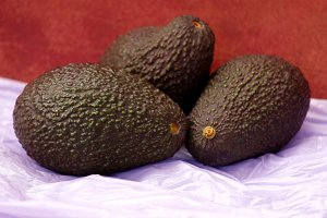 ripe avocados on dark abstract
