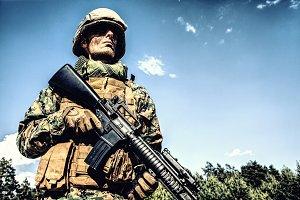 US Marine Soldier. American pride