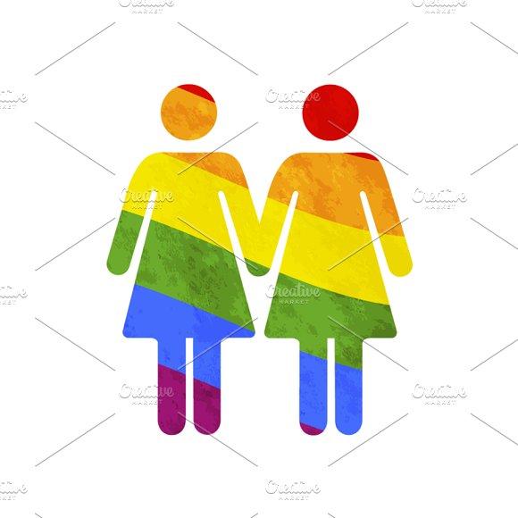 Lesbian Gay Couple Icon