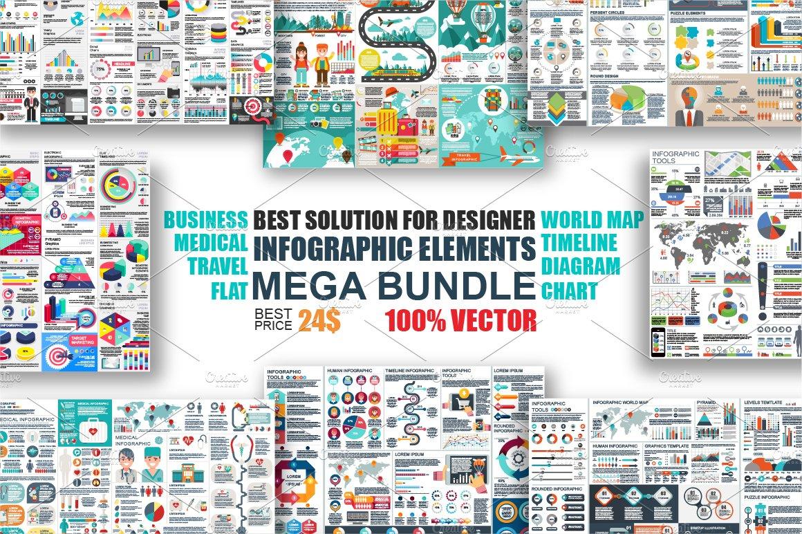 Infographic elements mega bundle presentation templates creative infographic elements mega bundle presentation templates creative market gumiabroncs Images
