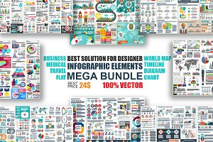 Infographic Elements Mega Bundle