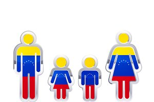 People icon with Venezuela flag