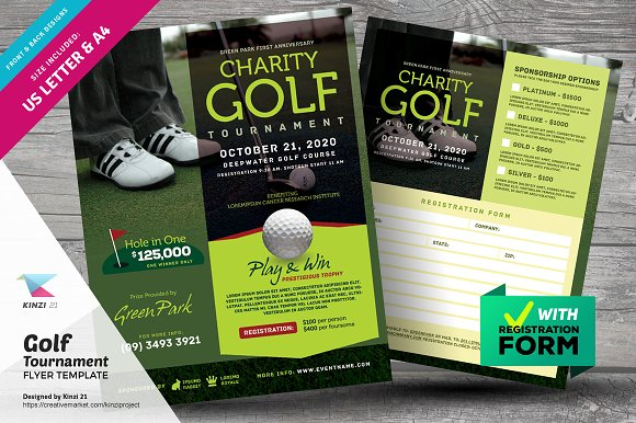 Golf Tournament Flyer Flyer Templates Creative Market