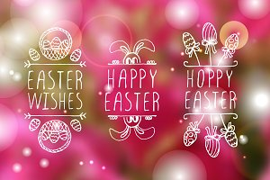 Easter typographical elements
