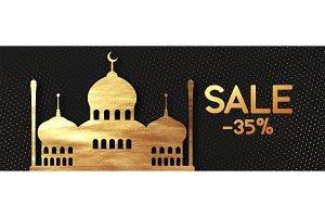 Sale Ramadan vector background.