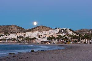 The beach of Carboneras