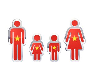People icon with Vietnam flag