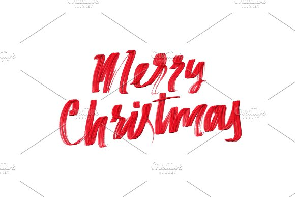 Merry Christmas Vector Text Calligraphic