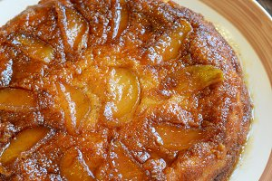 Apple Upside Down Cake on the Table