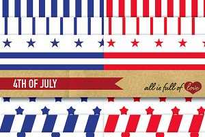 -20% 4th of July Background Patterns