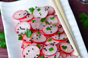 Radish Salad, Asian Style Appetizer