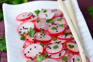 Radish Salad, Asian Style Appetizer