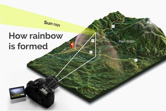 44 Rainbow Photo Overlays