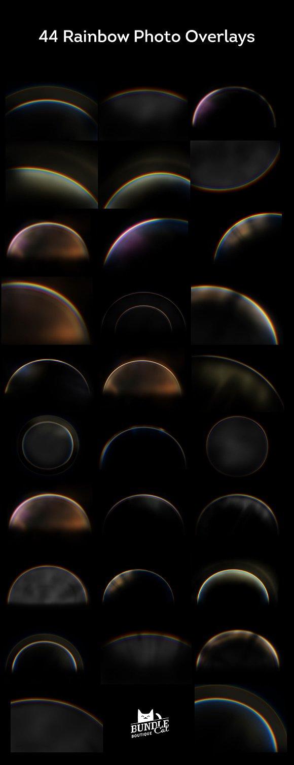 44 rainbow photo overlays actions creative market reheart Images
