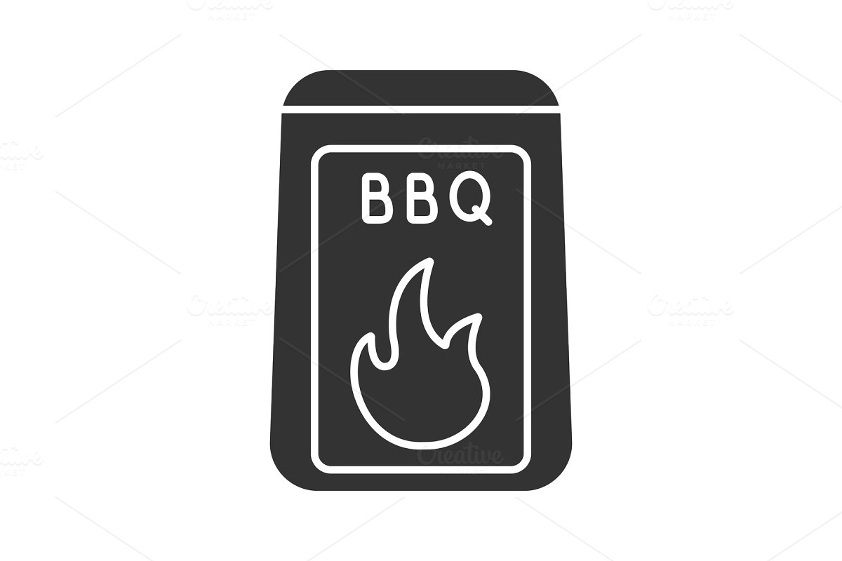 Barbeque coal glyph icon