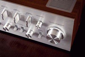 Vintage Stereo Amplifier Volume Knob