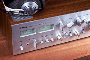 Vintage Stereo Amplifier Headphones