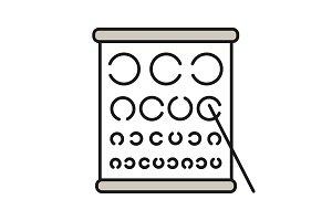 Eye exam chart color icon