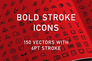 150 Bold Stroke Icons