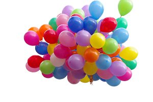 A lot of colorful balloons
