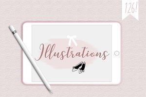 Feminine Illustrations & Patterns
