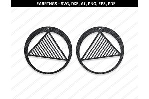 Abstract earrings svg,dxf,ai,eps,png