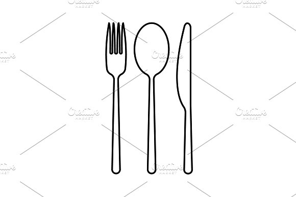 Menu Vector Line Icon Black On White