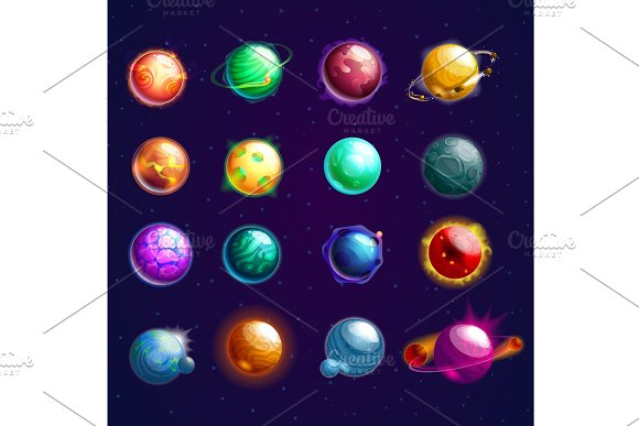 Set Of Isolated Cosmos Stars Or Planets