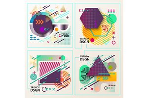 Abstract geometric shapes for modern design.