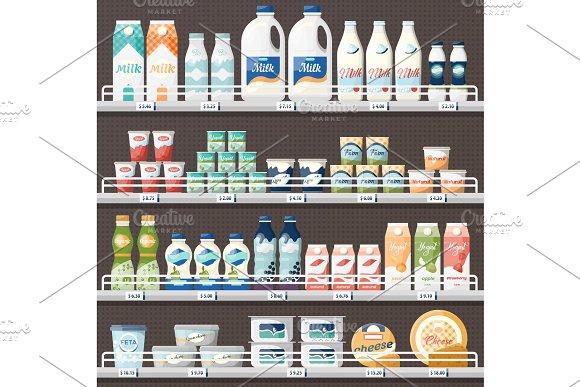 Counter With Milk And Yogurt Cheese