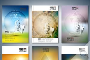 Brochure templates set