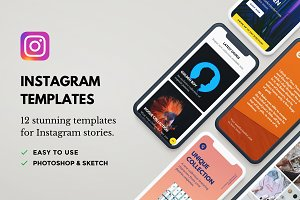 Rogue: 12 Instagram Template Bundle