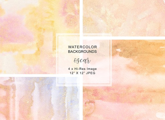 Watercolor Glittered Backgrounds in Textures
