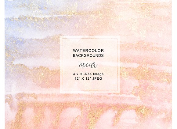 Watercolor Glittered Backgrounds in Textures - product preview 2