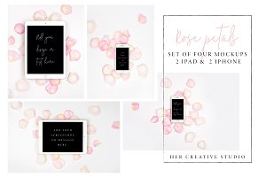 Ipad/Iphone Rose Petal Mockups