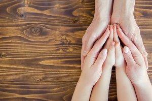 hands people. Selective focus.