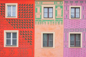 Colorful tenement houses