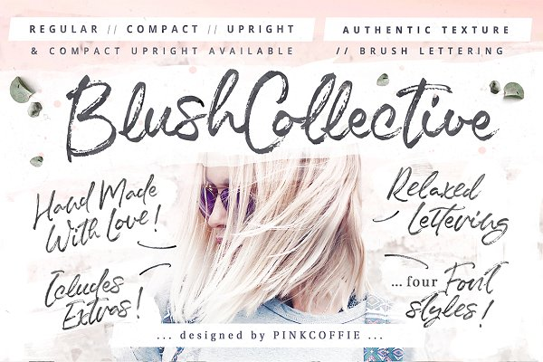 Blush Collective - 4 Fonts + Extras…