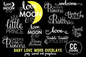 Baby Love Photographer Word Art