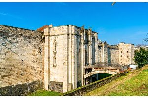 The Chateau de Vincennes, a 14th and 17th century royal fortress near Paris in France