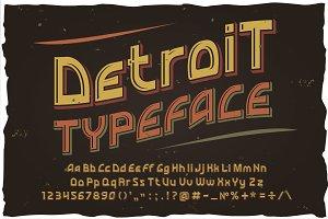 Detroit. OTF Vector vintage font
