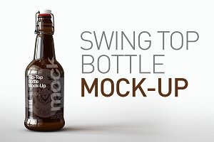 Swing Top | Flip Top Bottle Mock-Up