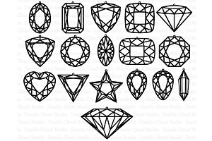 Gem Earring SVG, Diamond Earring SVG